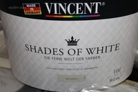 Image 1 of 41 (circa) potten muurverf vincent shades of white...