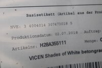 Image 5 of 41 (circa) potten muurverf vincent shades of white...