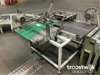 Image 1 of 90° omkeer transportband in t-opstelling
