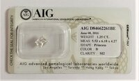 Image 1 of Certified diamond: 1.25ct - 1pcs