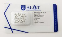 Image 1 of Certified diamond: 1.55ct - 30pcs