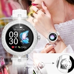 Image 2 of Dames smartwatch horloge voor android ios wit