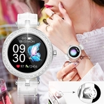 Image 3 of Dames smartwatch horloge voor android ios wit